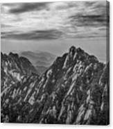 58462 Yellow Mountains Black And White Canvas Print