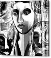 595 -  A Face A ... Canvas Print