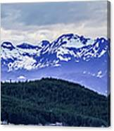 Alaska Nature And Mountain In June At Sunset Canvas Print