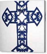Blue Butterfly-cross Canvas Print