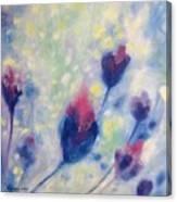 6 Blue Flowers In Breeze Canvas Print