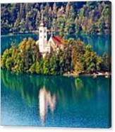 Church Of The Assumption - Lake Bled, Slovenia Canvas Print