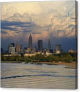 Cleveland Skyline From A Distant Park Canvas Print