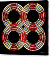 6 Concentric Rings X 4 Canvas Print