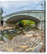Downtown Of Greenville South Carolina Around Falls Park Canvas Print