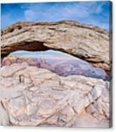 famous Mesa Arch in Canyonlands National Park Utah  USA Canvas Print