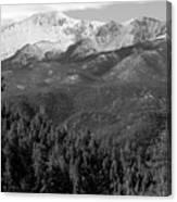 Fresh Snow On Pikes Peak Canvas Print