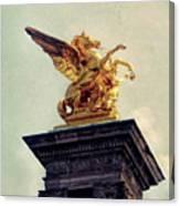Pegasus In Paris Canvas Print