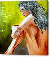 Girl Nude Canvas Print