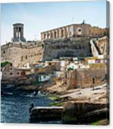La Valletta Old Town Fortifications Architecture Scenic View In  Canvas Print