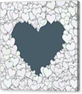 Love Heart Valentine Shape Canvas Print