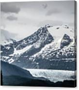 Mountain Range Scenes In June Around Juneau Alaska Canvas Print