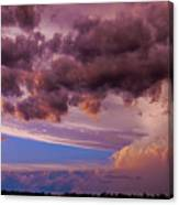 Nebraska Hp Supercell Sunset Canvas Print