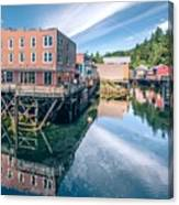 Old Historic Town Of Ketchikan Alaska Downtown Canvas Print
