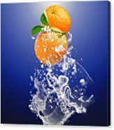 Orange Splash Canvas Print