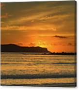 Orange Sunrise Seascape Canvas Print
