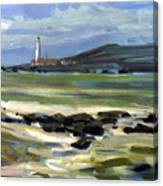 Pigeon Point Light Canvas Print