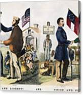 Presidential Campaign, 1864 Canvas Print