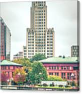 Providence Rhode Island City Skyline In October 2017 Canvas Print