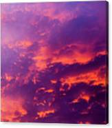 Red Cloudscape At Sunset. Canvas Print