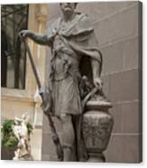 Roman Citizen In Louvre Canvas Print
