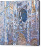 Rouen Cathedral, West Facade Canvas Print