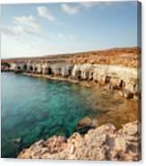 Sea Caves Ayia Napa - Cyprus Canvas Print
