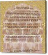 Sukkot-ushpizin Prayer- The Hosts... Canvas Print