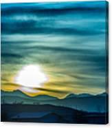 Sunrise Over Colorado Rocky Mountains Canvas Print