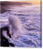 Sunset In The Portuguese Coast Canvas Print