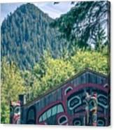 Totems Art And Carvings At Saxman Village In Ketchikan Alaska Canvas Print
