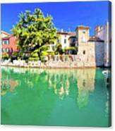 Town Of Sirmione Entrance Walls View Canvas Print