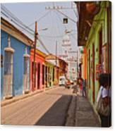 Traversing Santiago De Cuba, Cuba. Canvas Print