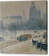 Winter In Union Square Canvas Print