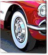 61 Corvette Canvas Print