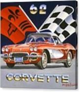 62 Vette Canvas Print