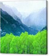 Nature Work Landscape Canvas Print