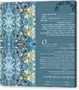 Interfaith Or Reformed Ketubah To Fill Canvas Print