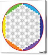 64 Tetra Flower Of Life Canvas Print