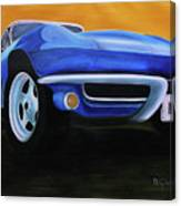 66 Corvette - Blue Canvas Print