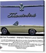 '66 Thunderbird Convertible Canvas Print