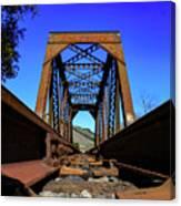 6696 Railroad Bridge Canvas Print