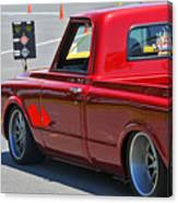 '67 Chevy C10 Awaits Green Light Canvas Print