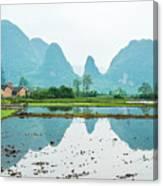 Karst Rural Scenery In Spring Canvas Print
