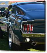 67 Mustang Fastback Canvas Print