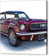 69 Ford Mustang Canvas Print