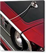 69 Mustang Hood Pin And Grille Canvas Print