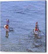 69- Paddle Boarders Canvas Print