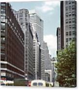 6th Avenue New York 1950 Canvas Print