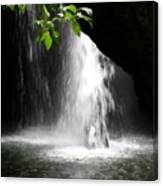 Australia - Peering Into Natural Arch Waterfall Canvas Print